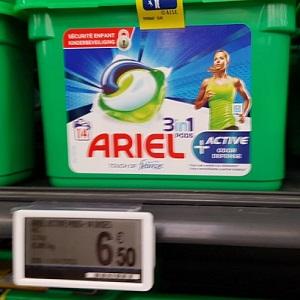 Lessive en Capsules Pods+ Ariel chez Leclerc