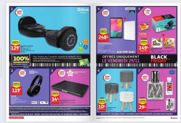 Produits 100% remboursés Auchan le 29/11