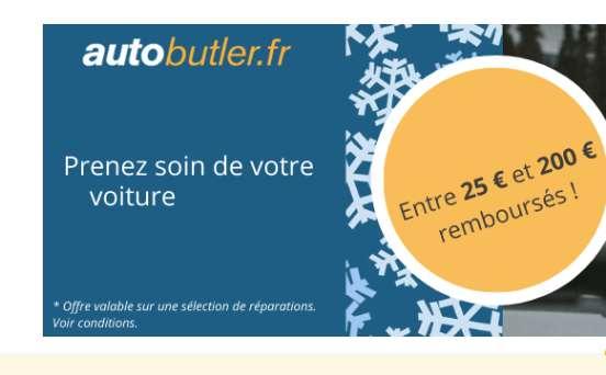 Autobutler : jusqu'à 200€ de remboursés sur des réparations automobiles