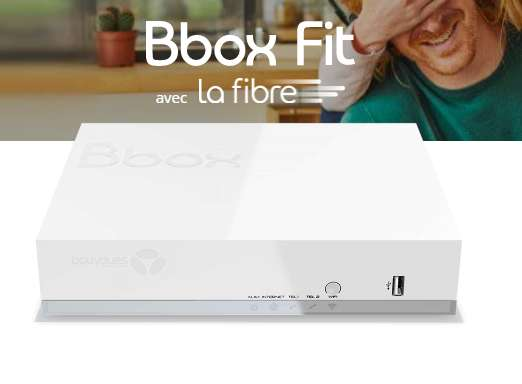 14,99€ / mois pendant 1 an la box internet fibre BBOX FIT
