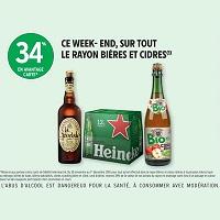 Intermarché : 34% de Remise sur tout le Rayon Bières et Cidres (30/11 – 01/12)