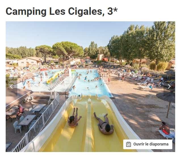 99€ la semaine en camping  à VIAS en Avril Mai Juin