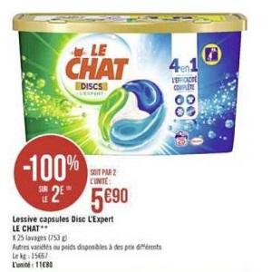 Lessive en Discs Le Chat chez Casino (04/11 – 17/11)