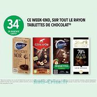 Intermarché : 34% de Remise sur tout le Rayon Tablettes de Chocolat (23/11 – 24/11)