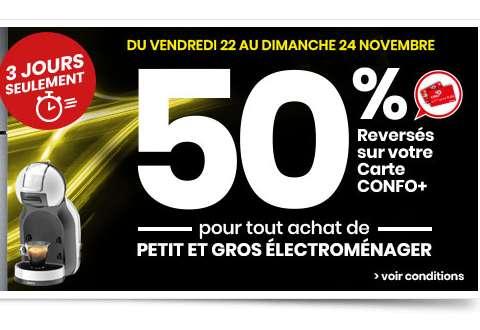 Carte Confo + : 50% sur le petit et gros électroménager