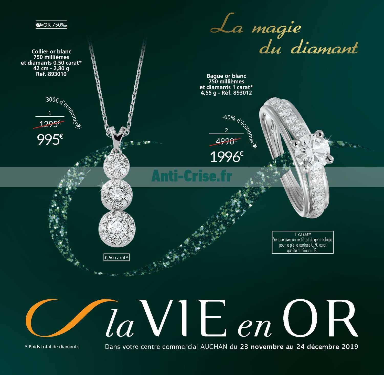 bague diamant 1 carat auchan