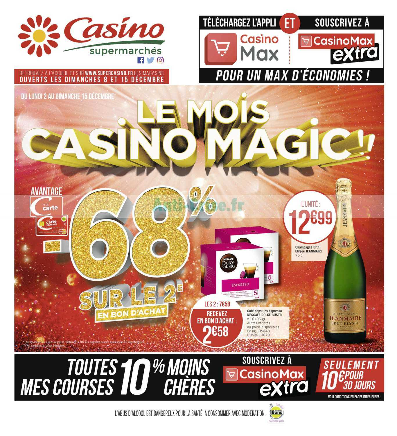 Catalogue Casino du 02 au 15 décembre 2019