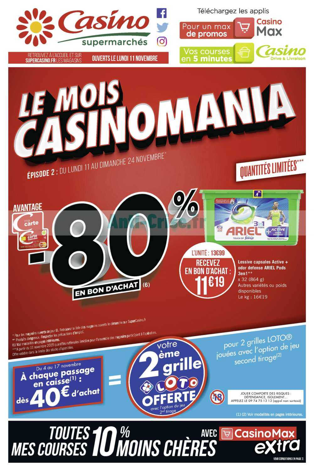 Catalogue Casino du 11 au 24 novembre 2019