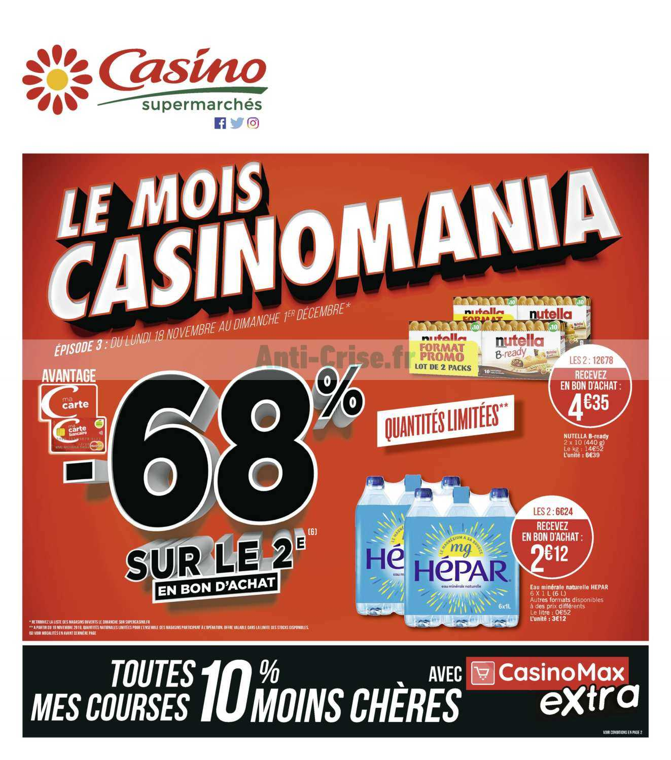 Catalogue Casino du 18 novembre au 01 décembre 2019