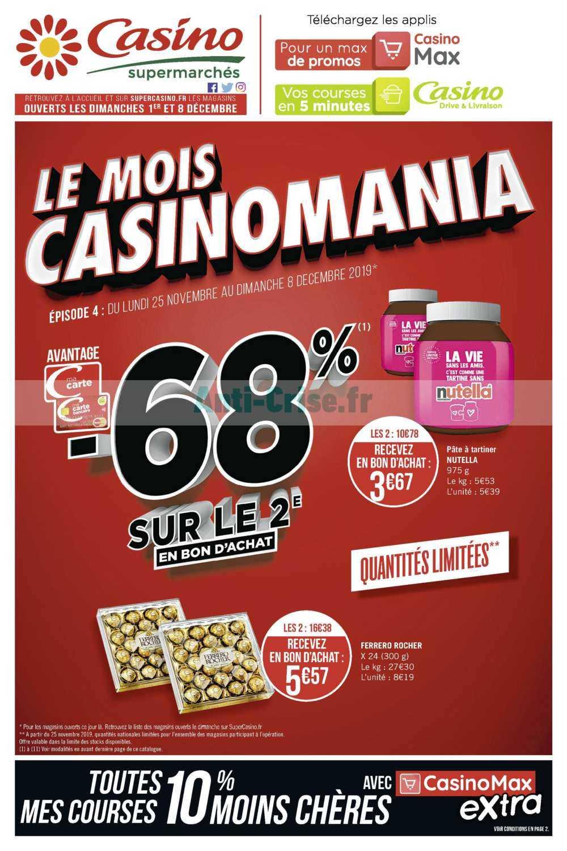 Catalogue Casino du 25 novembre au 08 décembre 2019