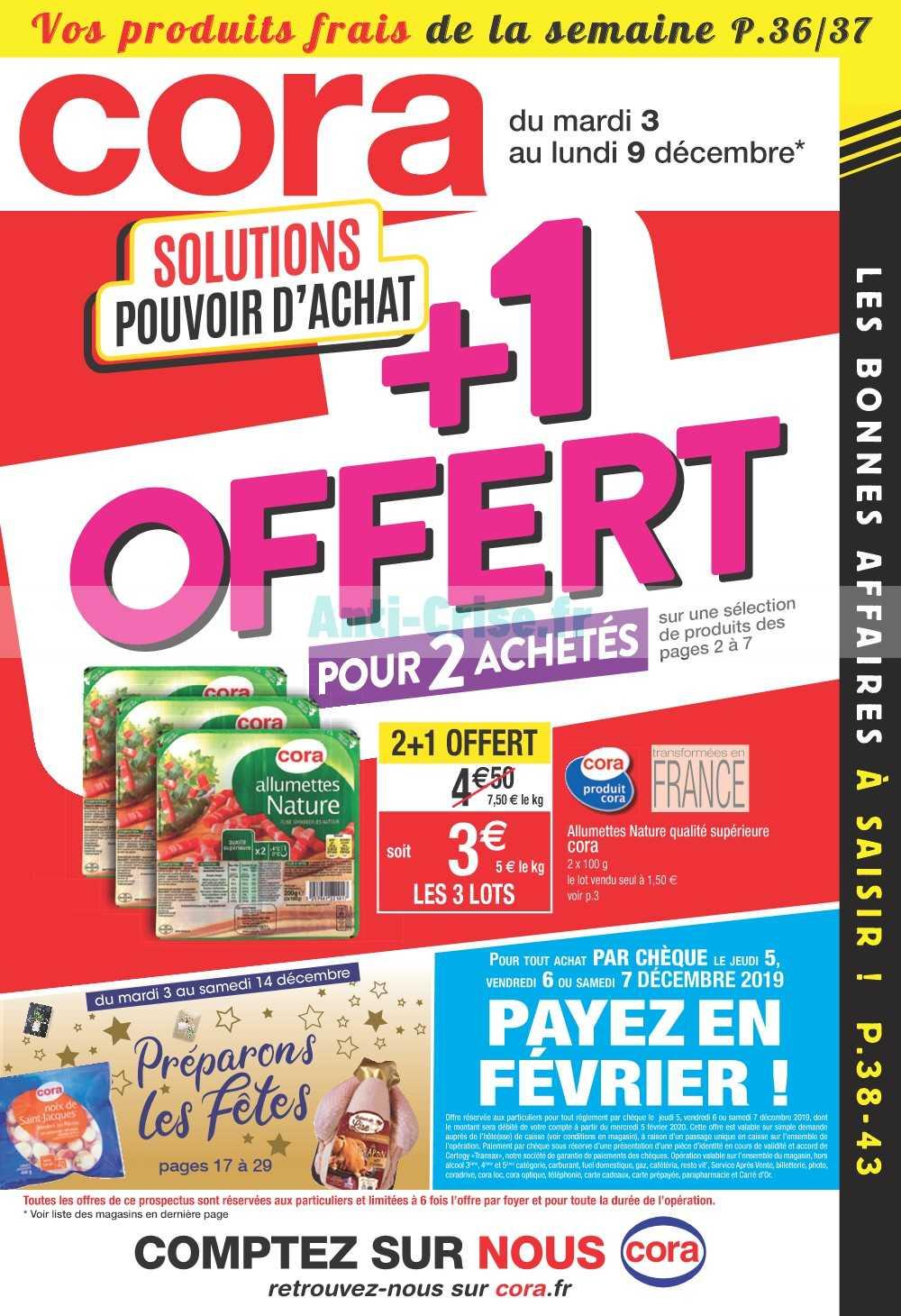 Catalogue Cora du 03 au 09 décembre 2019 (Alsace)