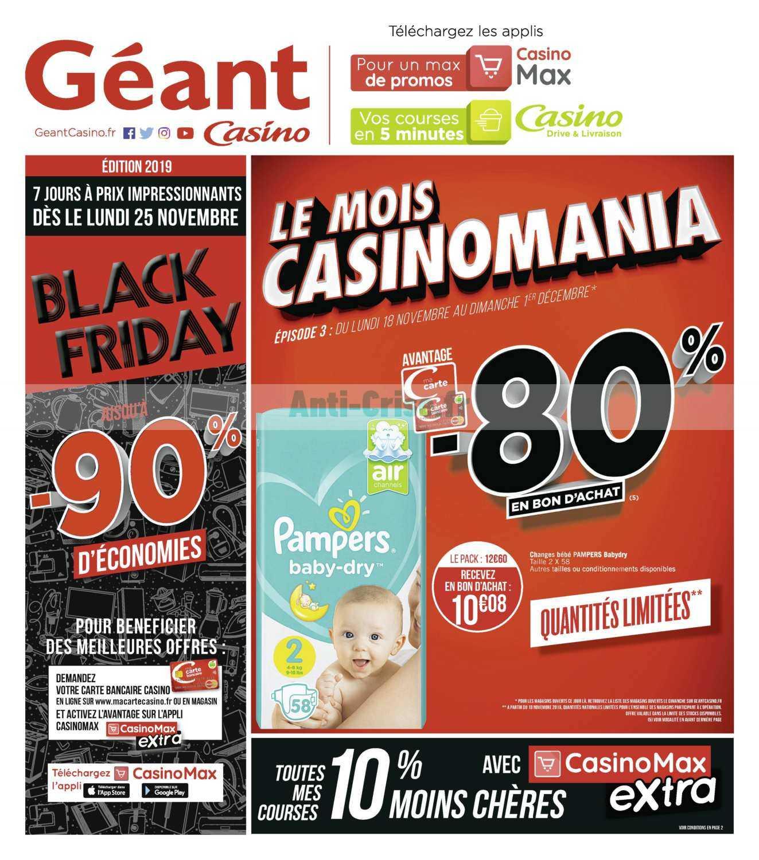 Catalogue Géant Casino du 18 novembre au 01 décembre 2019