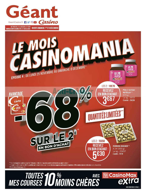 Catalogue Géant Casino du 25 novembre au 08 décembre 2019