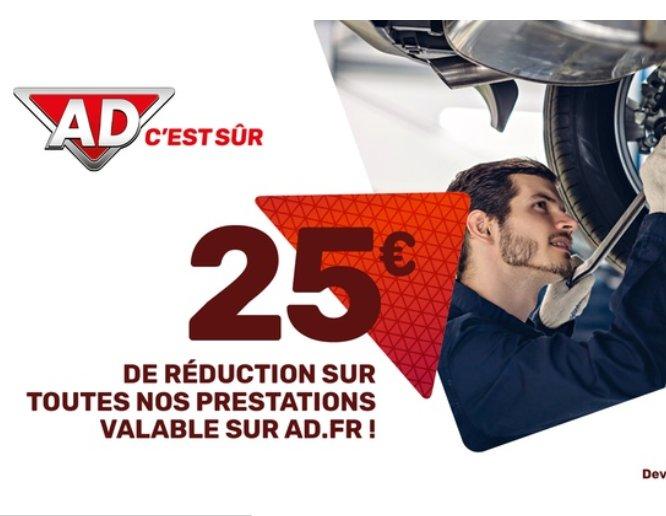 Garages AD : 50€ le bon d'achat de 100