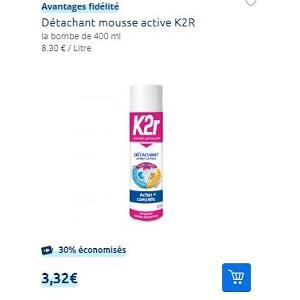 Détachant Action Complète K2R chez Carrefour (12/11 – 18/11)