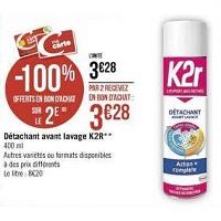 Détachant Aérosol Action Complète K2R chez Casino (15/11 – 24/11)