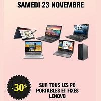 Leclerc : 30% de Remise sur les Pc Portables & Fixes Lenovo le 23/11