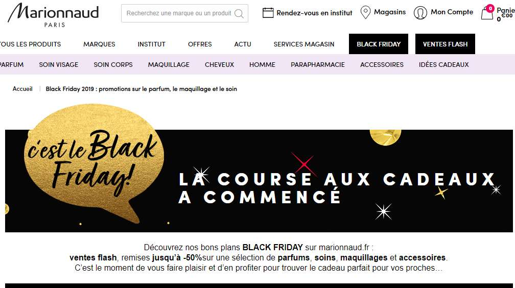Marionnaud Black Friday : jusqu'à 50% de réduction sur des produits