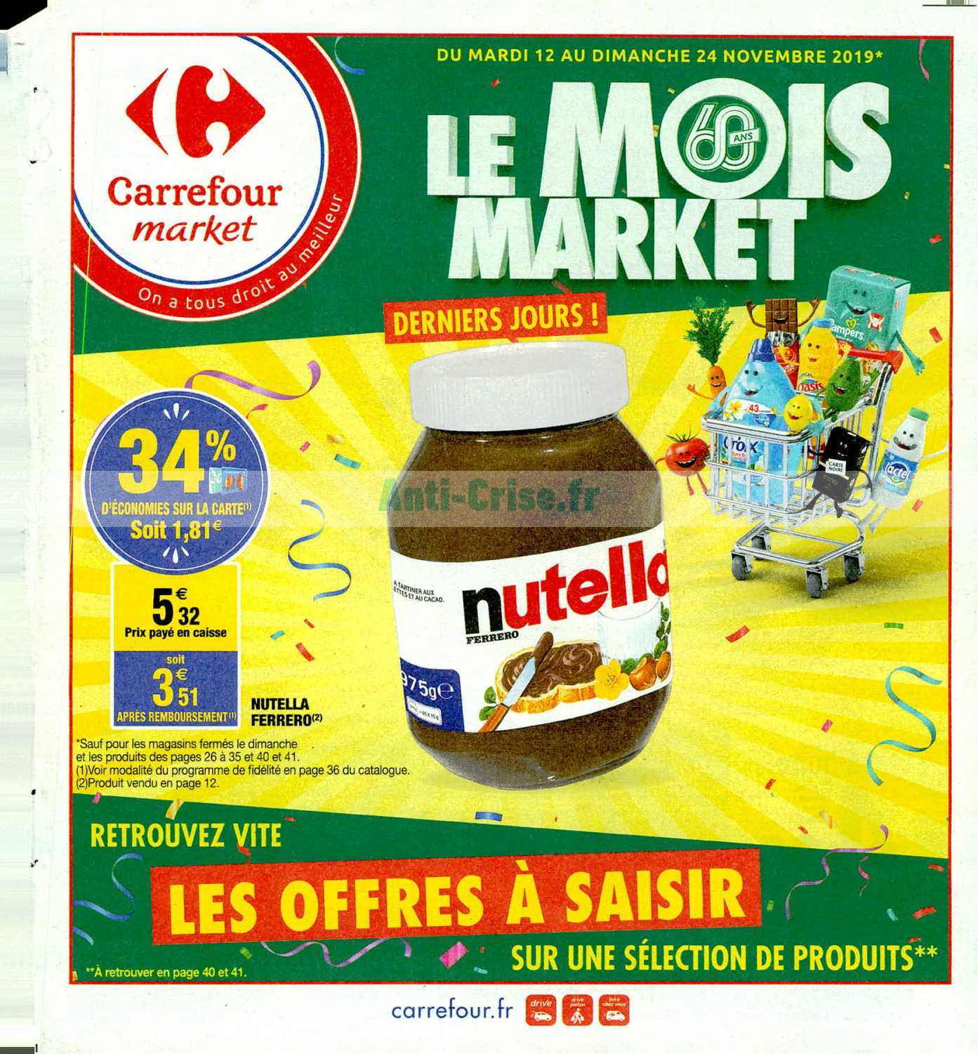 Catalogue Carrefour Market du 12 au 24 novembre 2019