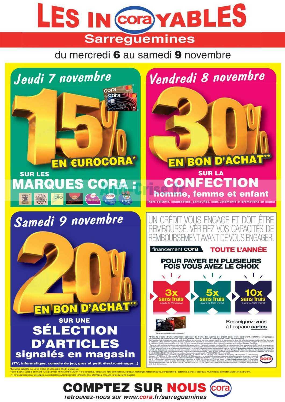Catalogue Cora Du 06 Au 09 Novembre 2019 Sarreguemines