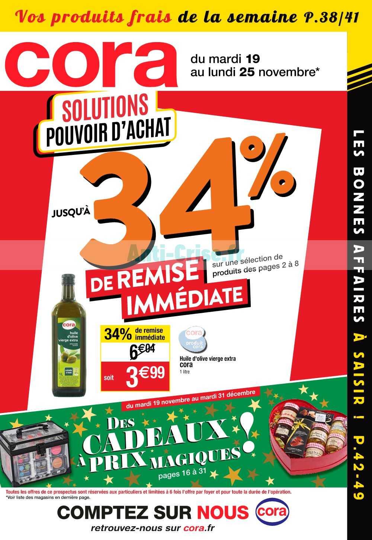 Catalogue Cora du 19 au 25 novembre 2019 (Alsace)