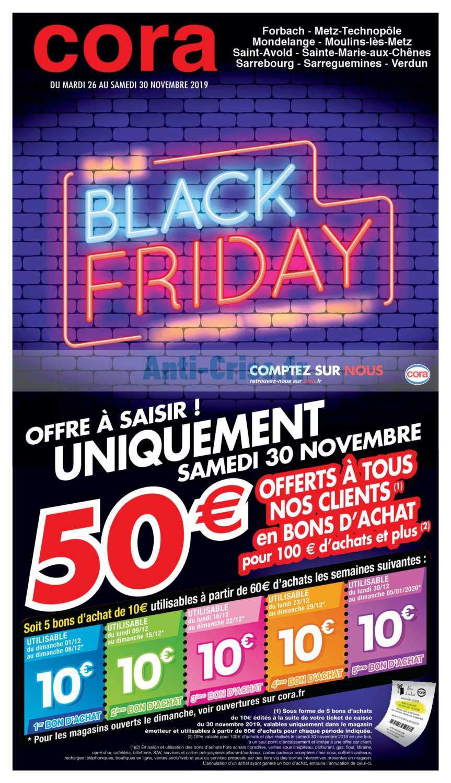 Catalogue Cora Du 26 Au 30 Novembre 2019 Black Friday