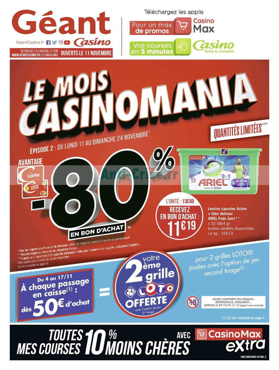 Catalogue Géant Casino du 11 au 24 novembre 2019