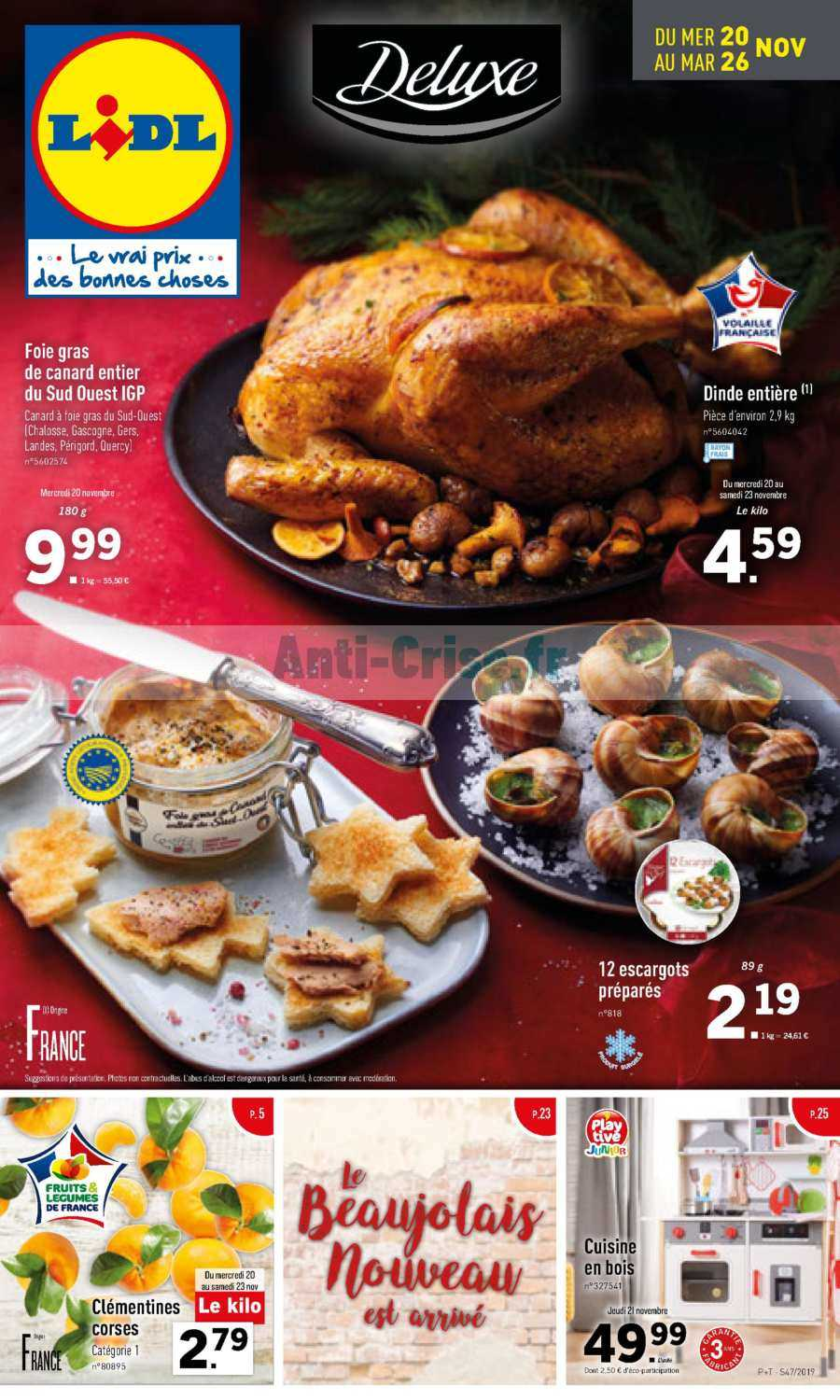 Catalogue Lidl du 20 au 26 novembre 2019