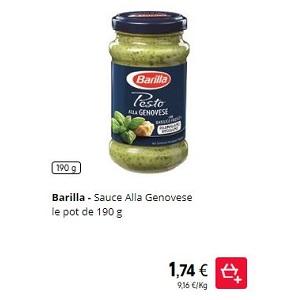 Sauce Pesto Alla Genovese Barilla chez Intermarché (01/11 – 18/11)