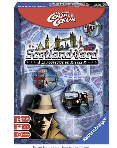 6,49€ le jeu de société Scotland Yard edition jeu coup de coeur