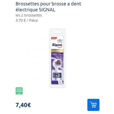 Brossettes pour Brosse à Dents Electrique Signal Partout