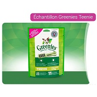 Echantillon Greenies Teenie sur Quoty