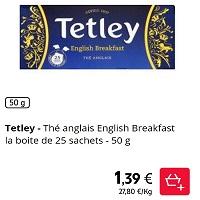 Thé Noir Tetley Partout