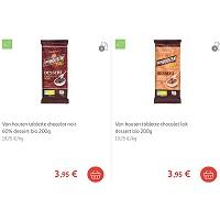 Tablette de Chocolat Dessert Bio Van Houten Partout