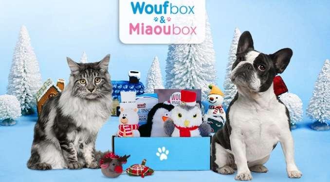 Plus de 50% de réduction sur les WoufBox et Miaoubox ( coffrets cadeaux pour animaux)