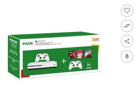 Pack Console XBOX ONE + 3 jeux et 2 manettes pour 249€