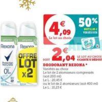 Déodorant Rexona chez Magasins U (10/12 – 24/12)