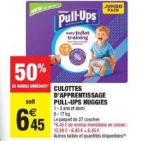 Culottes Pull-ups Huggies chez Carrefour Market (10/12 – 24/12)