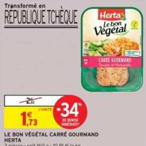Boulettes Le Bon Végétal Herta chez Intermarché (10/12 – 15/12)