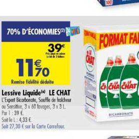 Lessive Liquide Le Chat chez Carrefour (02/01 – 13/01)