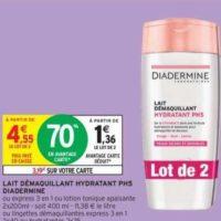Lait Démaquillant Diadermine chez Intermarché (10/12 – 15/12)
