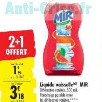 Liquide Vaisselle Mir chez Carrefour (10/12 – 24/12)