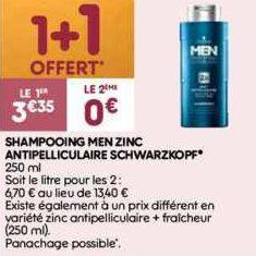 Shampoing Men Schwarzkopf chez Leader Price (17/12 – 24/12)