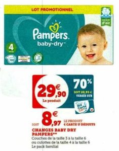 Couches Baby-Dry Pampers chez Super U (03/01 – 11/01)