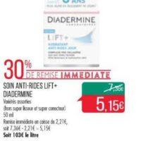Crème Lift+ Diadermine chez Match (10/12 – 26/12)