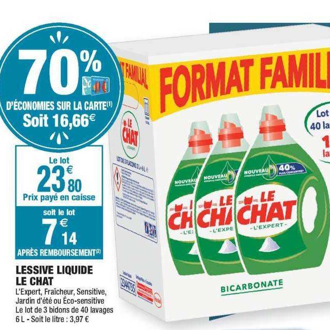 Lessive Liquide Le Chat chez Carrefour Market (02/01 – 12/01)