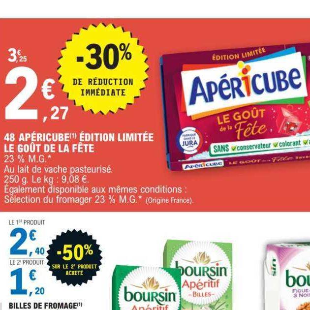 Fromage Apéritif Goût de la Fête Apéricube chez Leclerc (10/12 – 21/12)