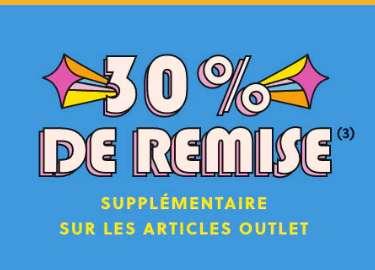 30%  de réduction en plus sur l'OUTLET FOSSIL ( montres , accessoires)