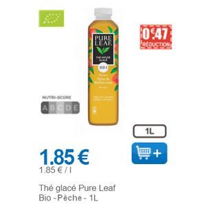Thé Glacé à la Pêche Pure Leaf chez Leclerc (01/12 – 31/12)
