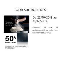 Offre de Remboursement Rosières : 50€ Remboursés sur Four